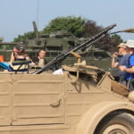 a kubelwagen with a mg34